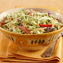 Broccoli Slaw with Onions, Scallions and Honey
