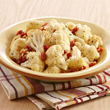 Herb-Roasted Cauliflower with Sun-Dried Tomatoes