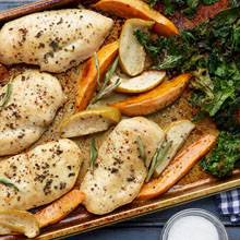 Chicken Apple Harvest Sheet Tray Dinner