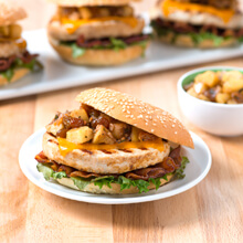 Sweet and Savory Apple Bacon Turkey Burgers
