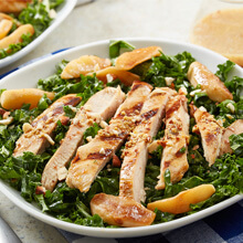 Hard Apple Cider Glazed Chicken Kale Salad