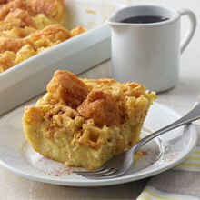 Chicken and Waffle Breakfast Casserole