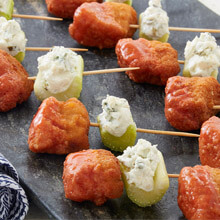 Buffalo Chicken Chunk Skewers