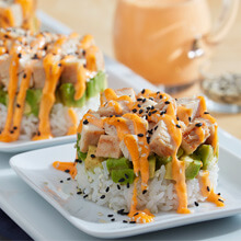 California Roll Chicken Stack