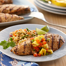Grilled Jamaican Chicken with Charred Pineapple Relish