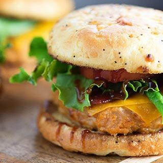 Cheddar BBQ Chicken Burger