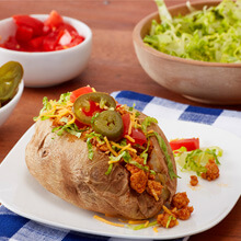 Cheesy Chicken Taco Baked Potato
