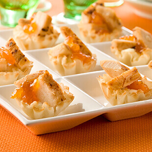 Chicken Apricot and Cream Cheese Appetizer Tarts