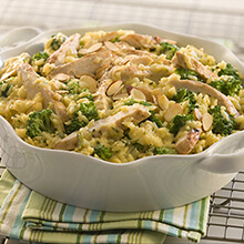 One Dish Chicken Broccoli and Rice Casserole