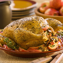 Roasted Chicken with Spanish Style Stuffing