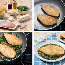 Bistro Skillet Chicken with Arugula