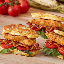 Chicken Corn Fritter Sandwich