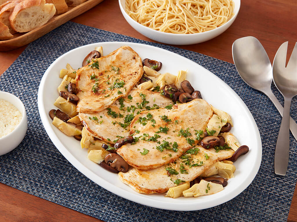 Chicken Scallopini With Mushrooms And Artichokes Perdue