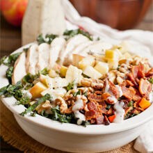 Chicken, Apple and Bacon Kale Salad