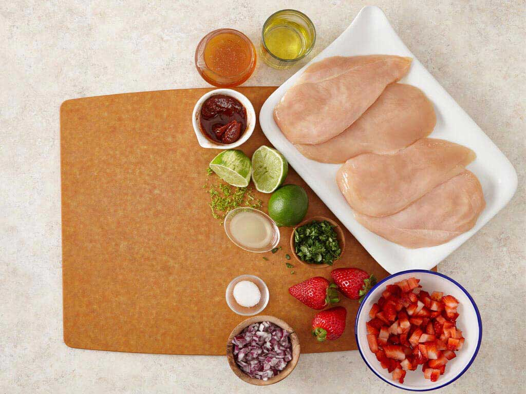 Chipotle Lime Grilled Chicken with Strawberry Salsa Video