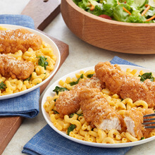 Crispy Chicken Mac and Cheese