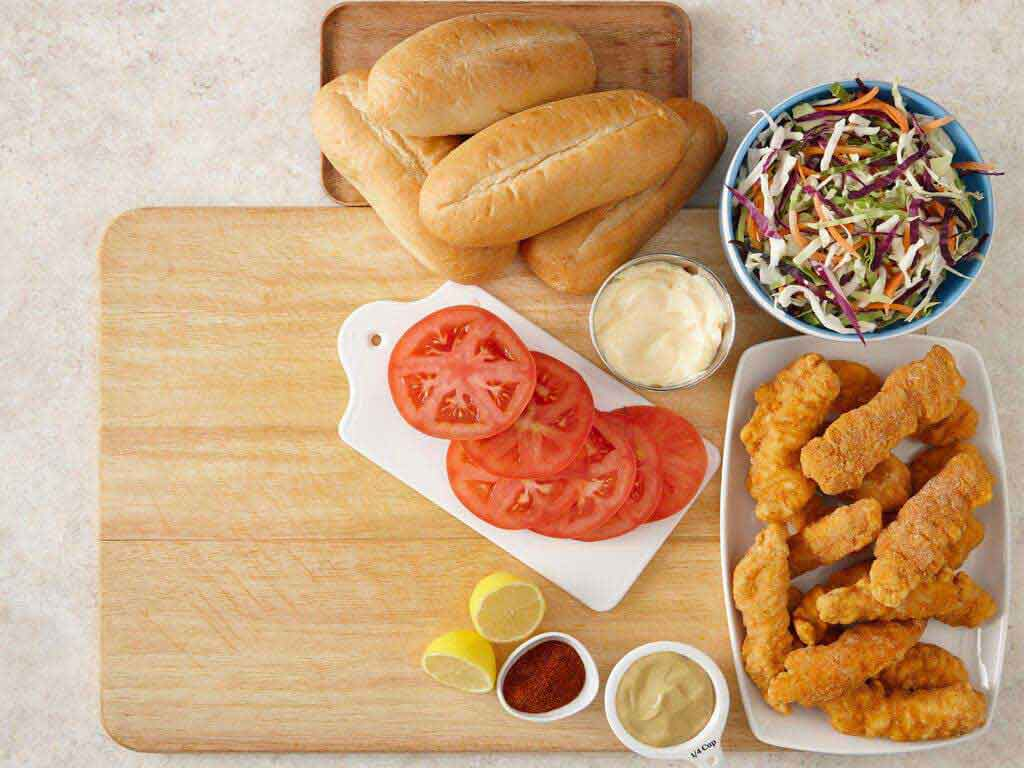 Crispy Chicken Po'Boy with Spicy Remoulade Slaw Video