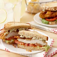Onion & Herb Chicken Breast BLT Sandwich