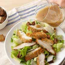 Parmesan & Herb Breaded Chicken Caesar Salad