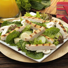 Grilled Chicken Salad with Hearts of Palm