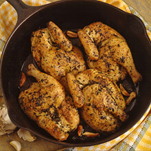 French Pan-Roasted Hens