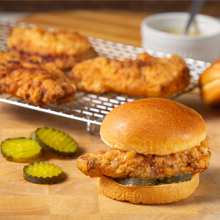 Air Fryer Buttermilk Fried Chicken Sandwich