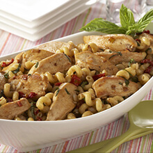 Garlic Chicken and Sun-Dried Tomato Pasta Salad