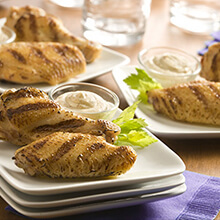 Garlic Wings with Parmesan Dipping Sauce