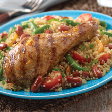 Citrus Mojo Chicken with Quinoa and Bean Salad