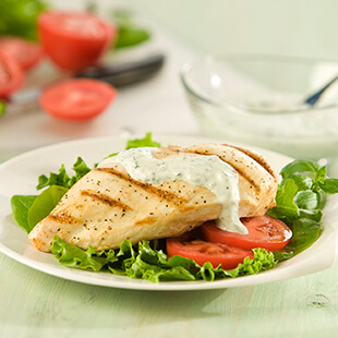 Chicken with Goat Cheese and Basil Sauce