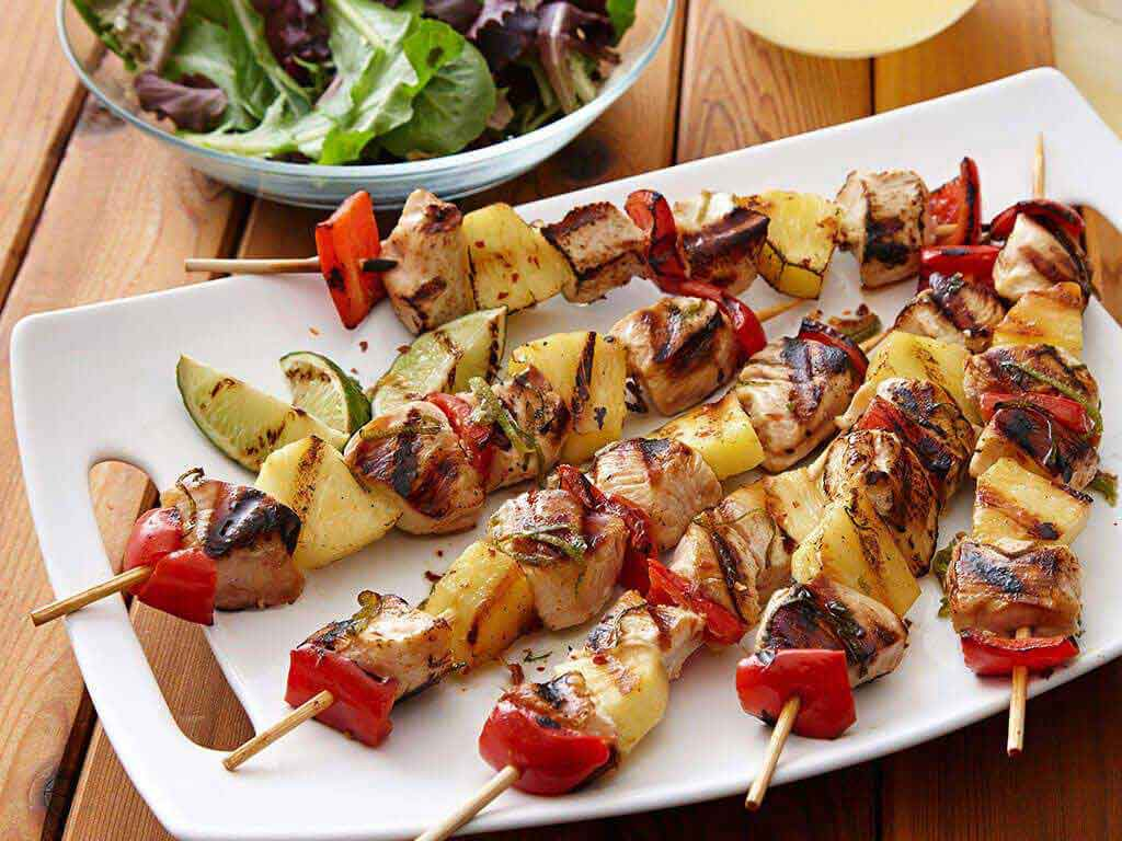 Easy Kona Pineapple Chicken Kebabs Perdue