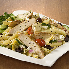 Greek Pasta and Chicken Salad