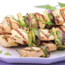 Lemongrass and Sriracha Grilled Chicken Kebabs