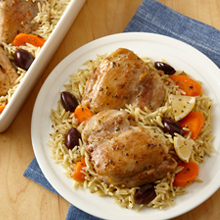 Lemon Chicken and Orzo One Pan Meal