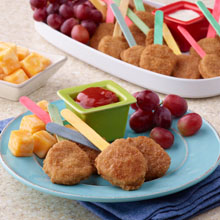 Chicken Nugget Lollipops