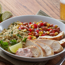 Mojo Chicken And Quinoa Burrito Bowls
