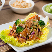 Moo Shu Chicken Cabbage Cups
