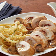 Prosciutto-Stuffed Chicken with Mushroom Sauce