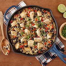 One Pan Cilantro Chicken And Rice