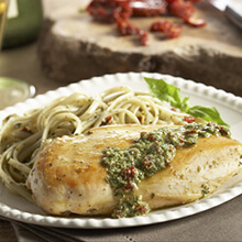 Pesto Chicken with Sun-dried  Tomatoes