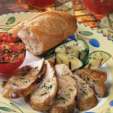 Italian Grilled Turkey with Grilled Tomatoes