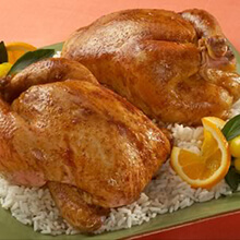 Orange Ginger Glazed Cornish Hen