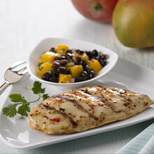 Chicken with Black Bean and Mango Salsa