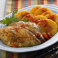Chicken with Tomatoes and Polenta