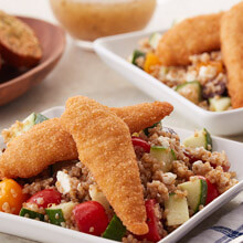 Gluten Free Chicken Tenders and Quinoa Salad