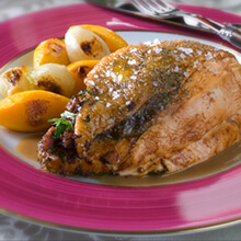 Roast Breast of Chicken with Mushroom Duxelles and Herb Butter