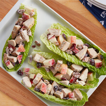 Rosemary Pecan Chicken Salad Boats