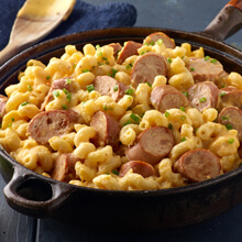 No Bake Chicken Apple Sausage Mac and Cheese