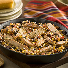 Easy Chicken and Black Bean Skillet
