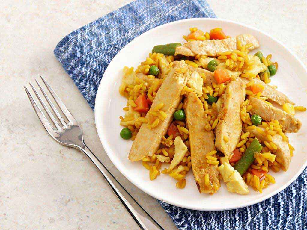 Chicken Stir Fry And Yellow Rice Perdue 174